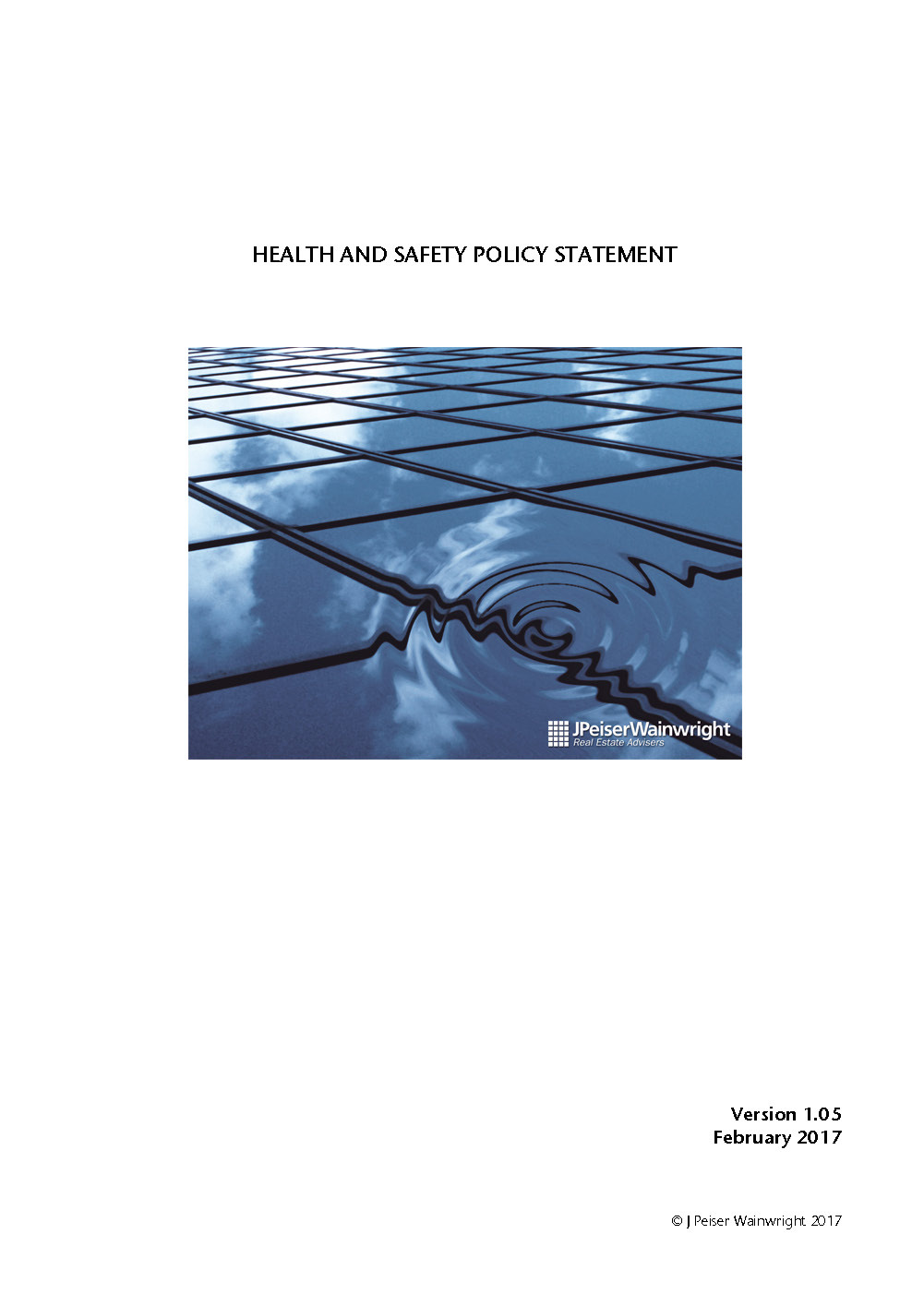 Jpw Health Safety Policy Statement V1 05 Page 1